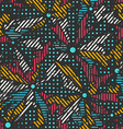 grunge mosaic seamless pattern vector image vector image