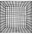 hand drawn square futuristic room with subdivision vector image vector image