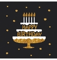 Happy Birthday greeting card poster placard vector image vector image