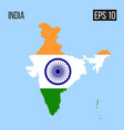 india map border with flag eps10 vector image vector image
