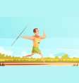 javelin thrower outdoor composition vector image vector image