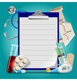 Medical template vector image vector image