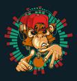 monkey dj monkey rapper vector image vector image