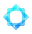 Mosaic rectangle geometric logo vector image