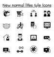 new normal life style icons set graphic design vector image