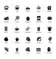 ocean and sea life glyph icons 6 vector image
