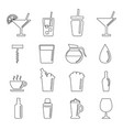 or drinking glass icon set vector image vector image