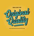 original brush script font retro typeface vector image vector image