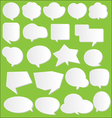 paper communication bubbles vector image vector image