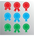 Pictograph of award different color vector image vector image