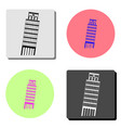 Pisa tower flat icon