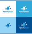 planet water vector image vector image