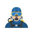 scuba diver man in diving suit icon aqualanger vector image