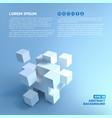 seamless cubes pictograph concept vector image