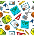 Seamless pattern of school and education supplies vector image
