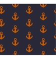 Seamless pattern with anchors in grunge style vector image vector image