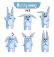 set of cute rabbit characters set 5 vector image vector image