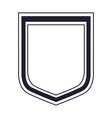 shield icon in monochrome silhouette vector image
