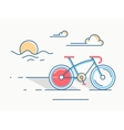 Sport bike line style vector image