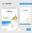 star logo calendar template cd cover diary and vector image vector image