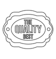The best quality icon outline style vector image vector image