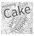 The Cake Topper In Your Bridal Accessories Package vector image