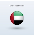 United Arab Emirates round flag vector image