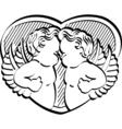 Valentines Cupids vector image vector image
