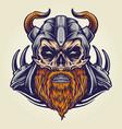 viking military horned helmet vector image vector image