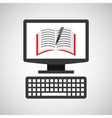 online education technology notebook pencil vector image