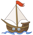 sailboat cartoon vector image