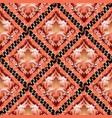 3d baroque seamless pattern ornamental damask vector image