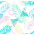 abstract seamless pattern with palm lea vector image