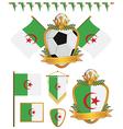 algeria flags vector image