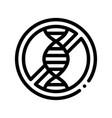allergen free sign genom thin line icon vector image vector image