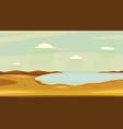 autumn lake landscapes horizontal wild sideview vector image