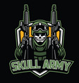 badge of skull soldier mascot vector image