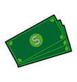 banknote bank money currency cash vector image vector image