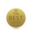 Best offer label vector image