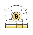 bitcoin business - colorful line design style vector image vector image