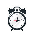 black alarm clock icon design on white background vector image