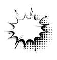 Blank template comic speech star bubble vector image vector image