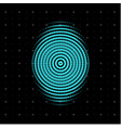 blue centric circles icon biometric security vector image vector image