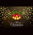christmas background golden bells and berries vector image vector image