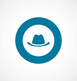 classic hat bold blue border circle icon vector image vector image