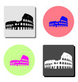 Coliseum in rome flat icon