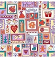 Colorful seamless Christmas and New Year pattern vector image vector image
