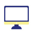 computer screen monitor isolated icon on white vector image