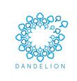 Concept cloud dandelion logo