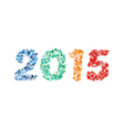 Creative colorful circle happy new year 2015 vector image vector image